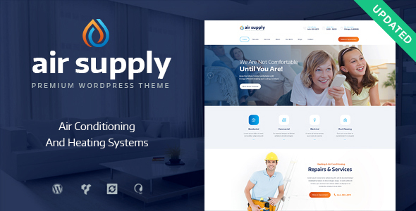 Фото Wordpress Template  Air Conditioning Company and Heating Services — air preview upd.  large preview