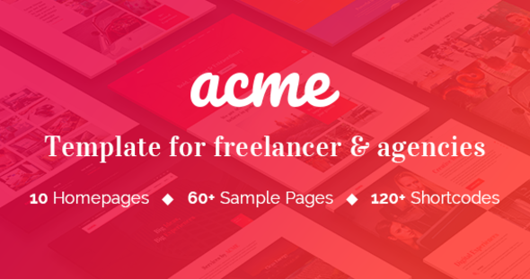 Download ACME - Theme for freelancers & agencies