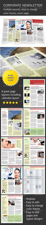 Fresh Corporate Newsletter    - Newsletters Print Templates