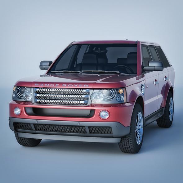 Vray Ready Range Rover Car