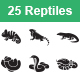 Reptiles & Amphibians Vector Icons