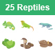 Reptiles & Amphibians Color Vector Icons