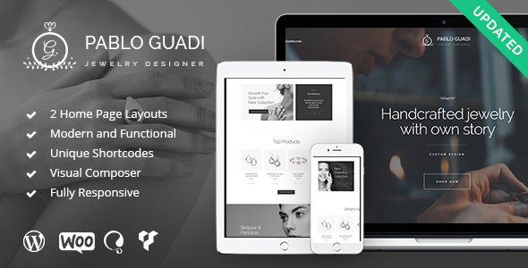 Pablo Guadi - Jewelry Designer & Handcrafted Jewelry Online Shop WP Theme