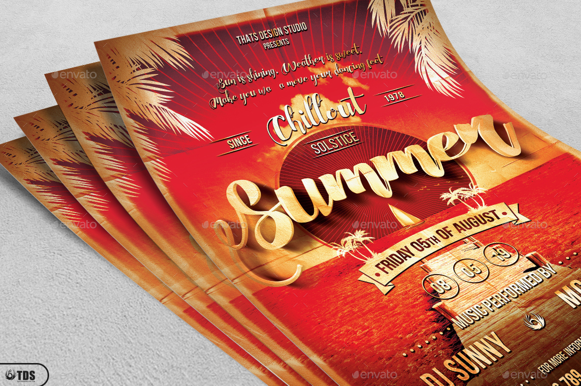 Summer Lounge Flyer Template V1 by lou606 – Lounge Flyer Template