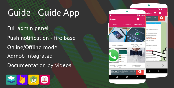 Guide App - Guide App by images (Admob+Firebase notification...)