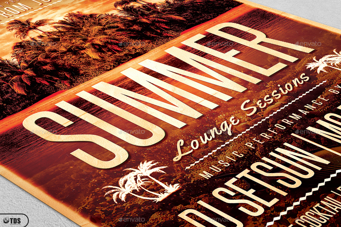 Summer Lounge Flyer Template V2 by lou606 – Lounge Flyer Template