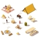 Isometric Low Poly Camping Equipment