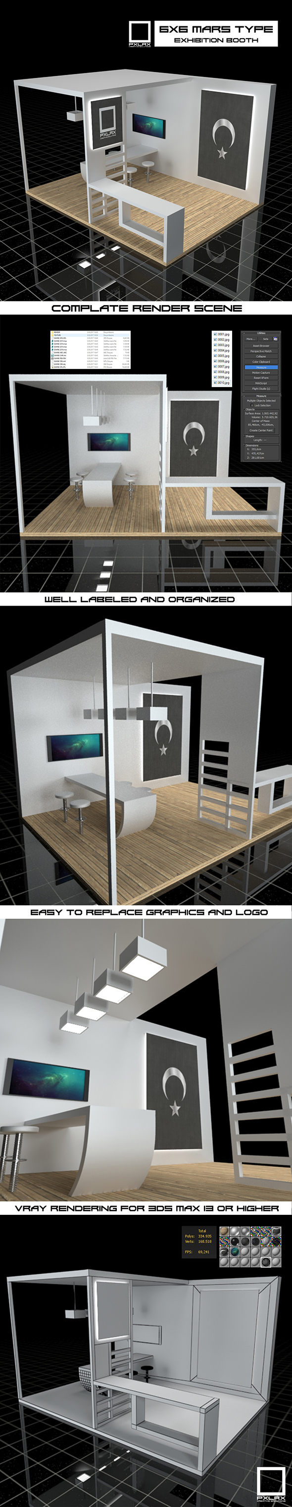 3DOcean Exhibition Booth Vray Scene 19883327