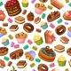 Cartoon Colorful Desserts Seamless Pattern