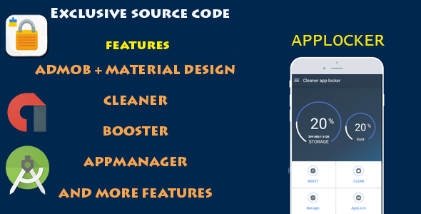 CCleaner Master APPLOCK - CodeCanyon Item for Sale