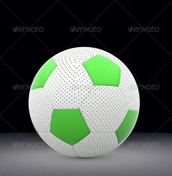 Football isolated - Stock Photo - Images