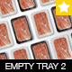 Empty Tray Package Mock-up Vol.2