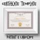 Certificate Template Vintage
