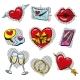 Vector Pop Art Fashionable Love Badges Set