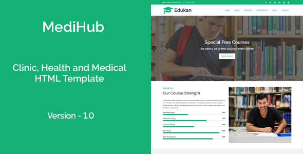 Download Edukan - Course and Education HTML Template