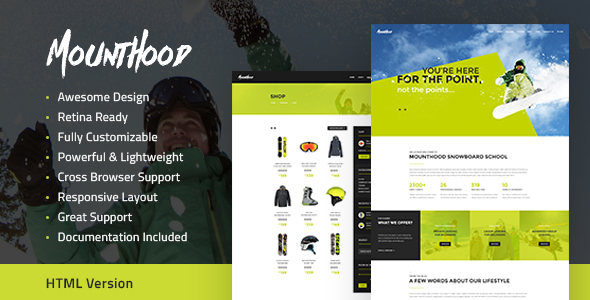 Download Mounthood | Ski and Snowboarding HTML Template
