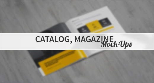 Catalog, Magazine Mock-Ups