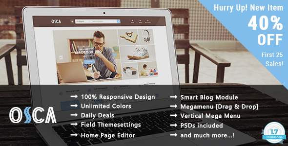 Osca - Shopping Responsive Prestashop 1.7 Theme