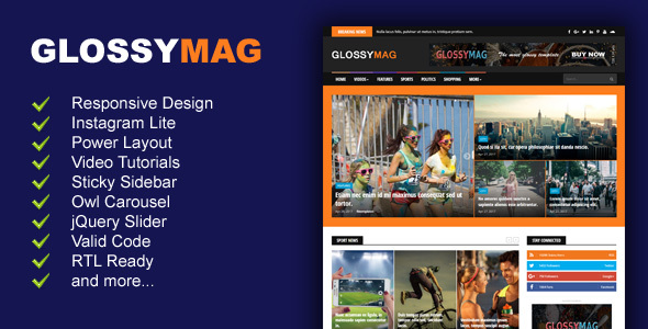 Glossy Mag News / Magazine Blogger Theme - Jogjafile