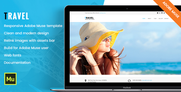 Travel - Responsive Tour & Travel Adobe Muse Template