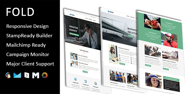 Fold – E mail Template Multipurpose Responsive with Stampready Builder Access (E mail Templates)