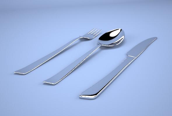 3DOcean Modern Cutlery 19889700