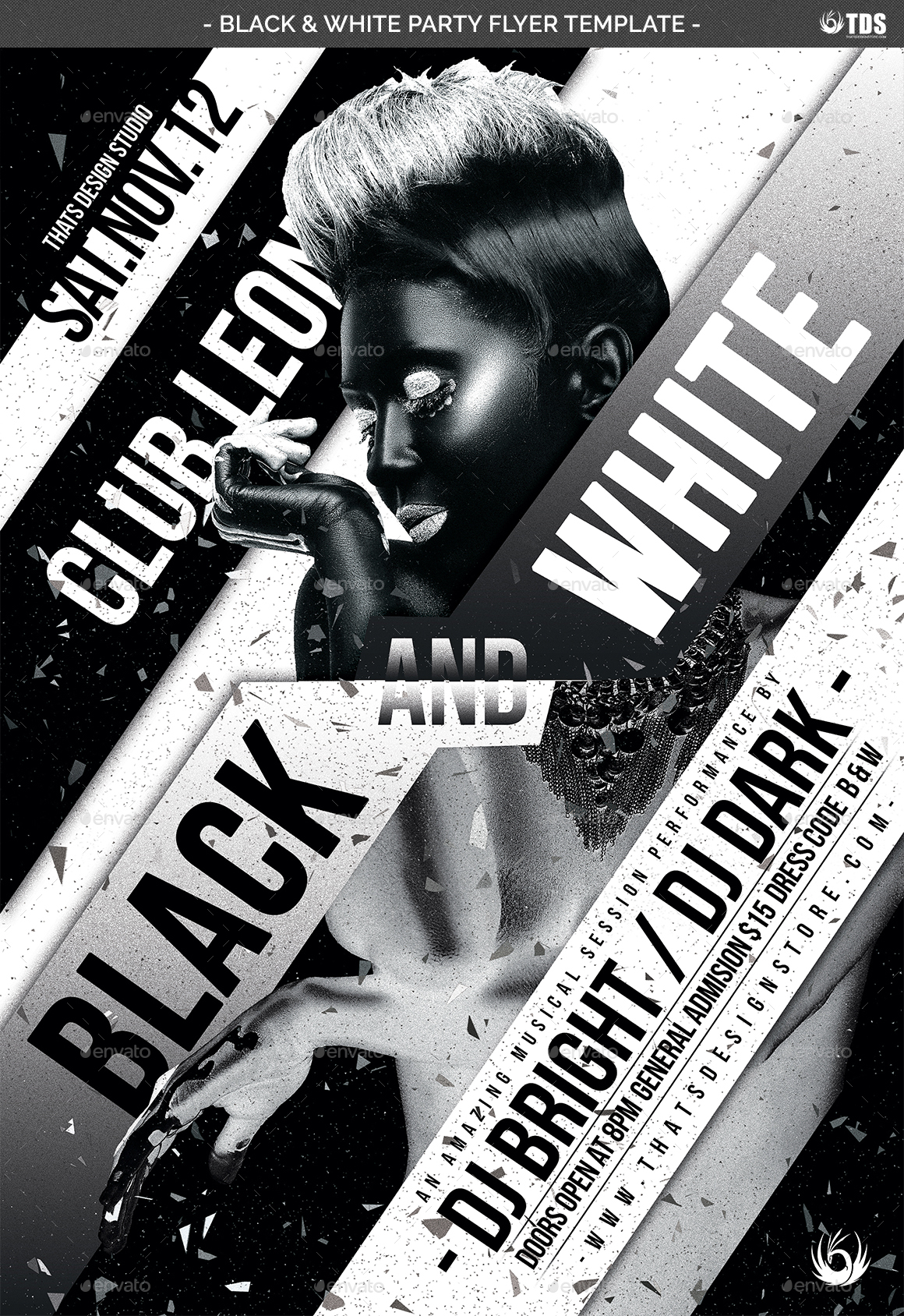 Black and White Party Flyer Template by lou606 – Black Flyer Template