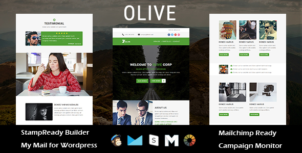 OLIVE – Multipurpose Responsive E-mail Template with Stampready Builder Access (Newsletters)