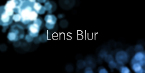 After Effects Project - VideoHive Lens Blur Intro 1946685