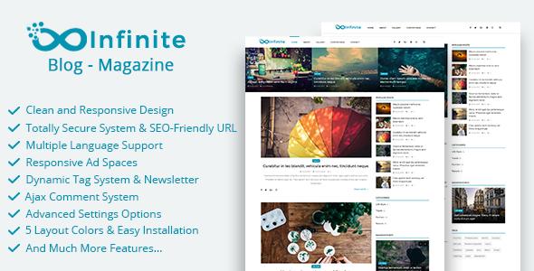 Infinite – Blog & Magazine Script (Miscellaneous) images