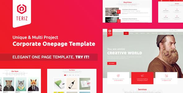 Teriz - Corporate Multipurpose Onepage HTML Template