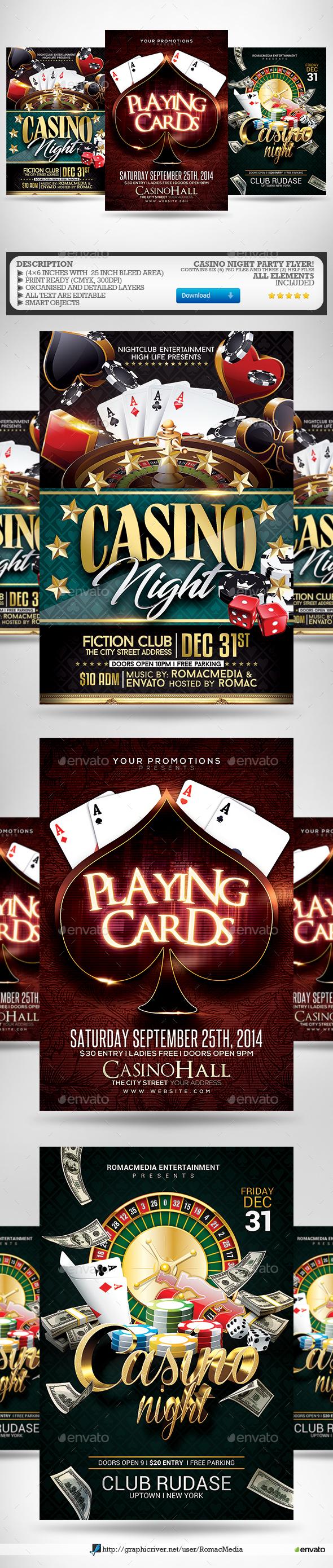 Casino Night Flyer Bundle