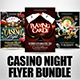 Casino Night Flyer Bundle