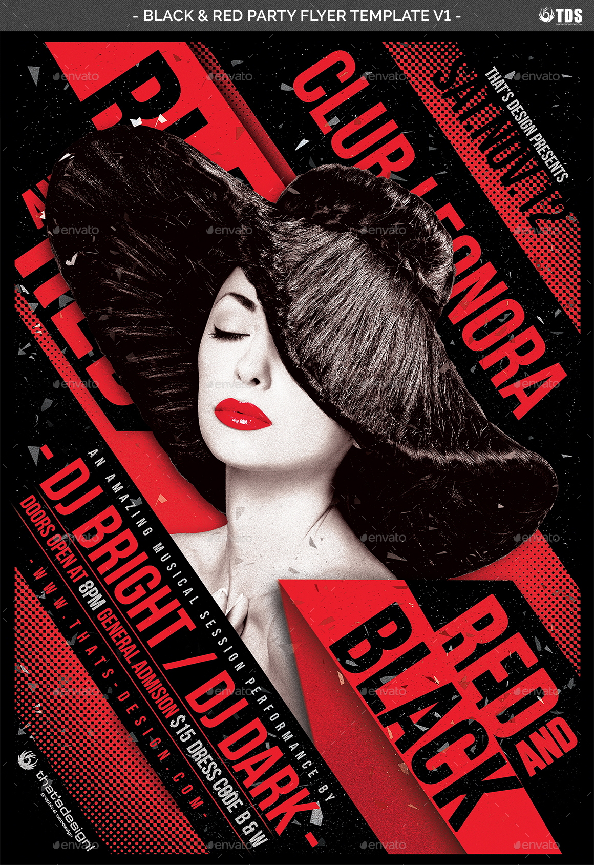 Black and Red Party Flyer Template V1 by lou606 – Red Flyer Template
