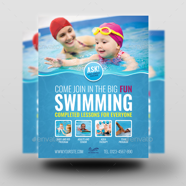 Swimming advertising bundle by owpictures graphicriver for Pool design templates