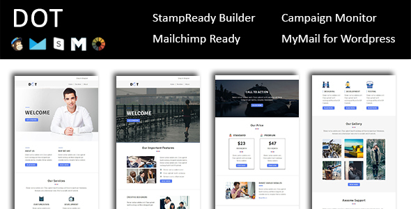 Dot – E-mail Template Multipurpose Responsive with Stampready Builder Access (E-mail Templates)