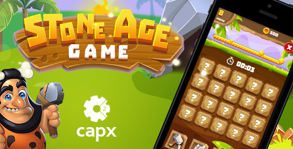 Stone Age HTML5 Game [ 20 levels ] + Capx
