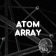 Glassy Atom Array Backgrounds