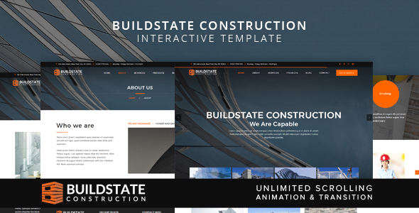 Buildstate Construction Interactive Template