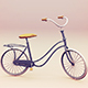 Low Poly Vintage Bicycle