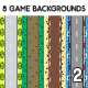 8 Top-Down Game Backgrounds Set 2