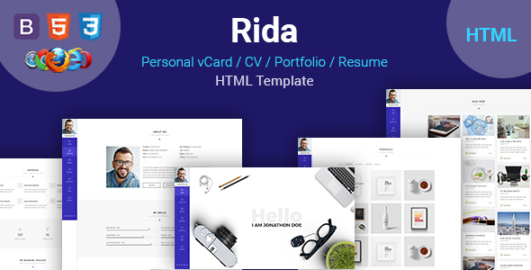 Rida vCard - Responsive HTML5 Portfolio/Resume Template