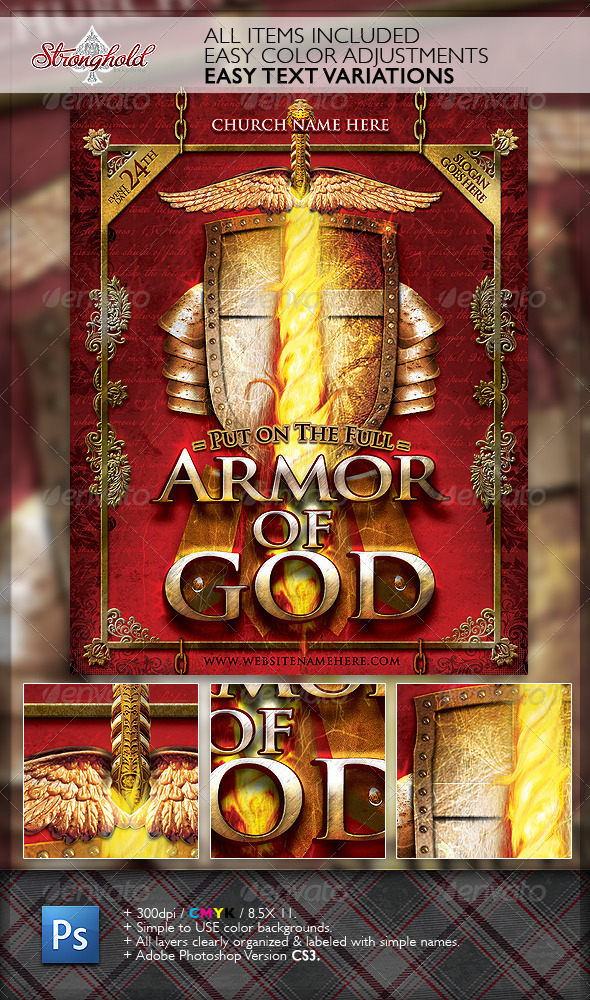 Do It Yourself Home Design: Armor Of God Flyer Template