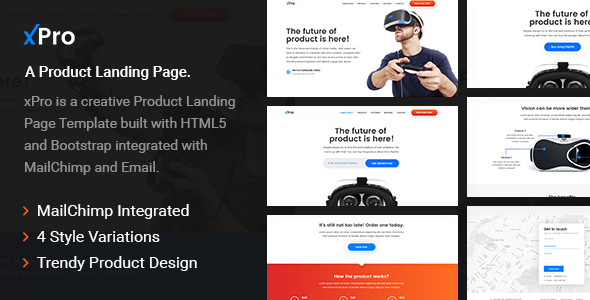 xPro - A Product Landing Page