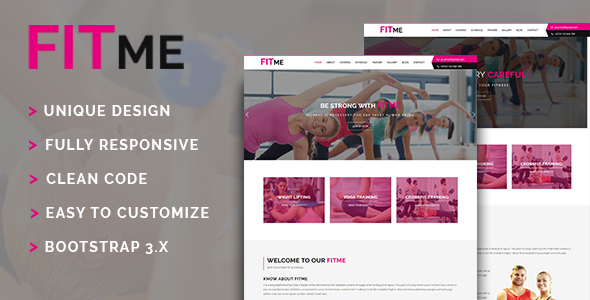 Fitme - Gym & Fitness HTML Template