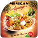 Mexican Appetizers Flyer Template