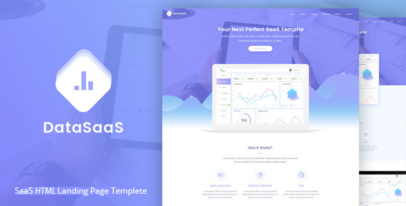 Download Datasaas Apps Landing template