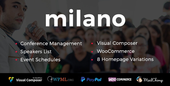 Milano – Conference &amp Occasion WordPress Theme (Events)