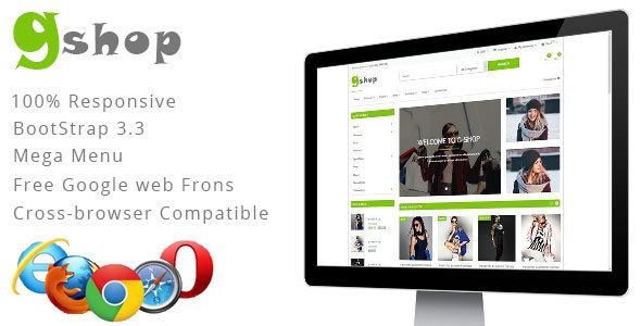 Image of GiftShop Bootstrap HTML5 eCommerce Template