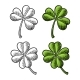 Good Luck Four and Three Leaf Clover. Vintage